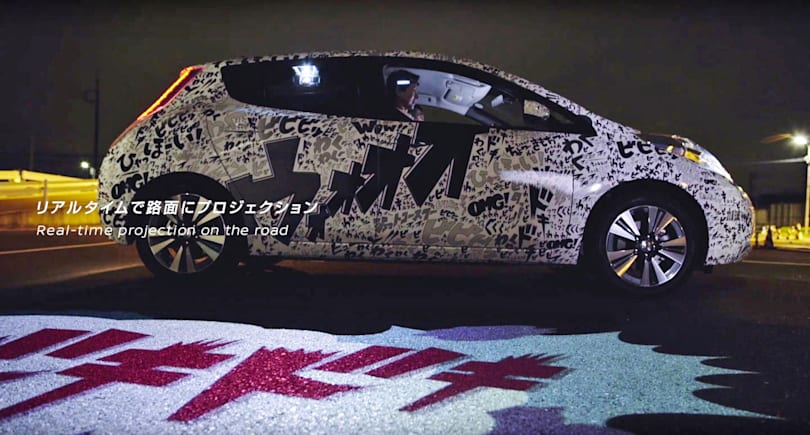 Nissan's 'mind-reading' Leaf projects driver reactions on the road