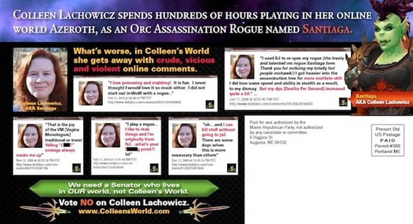 On the surreal attack ad against a State Senate candidate who plays WoW