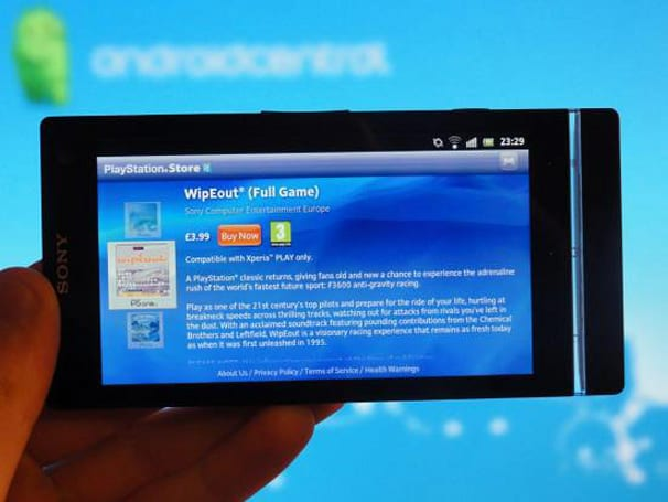 Xperia S, now with more PlayStation Store