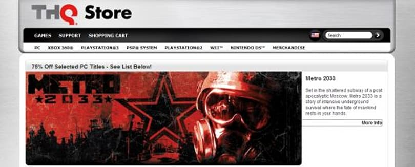 THQ puts PC games on sale, including Metro 2033, Darksiders, more