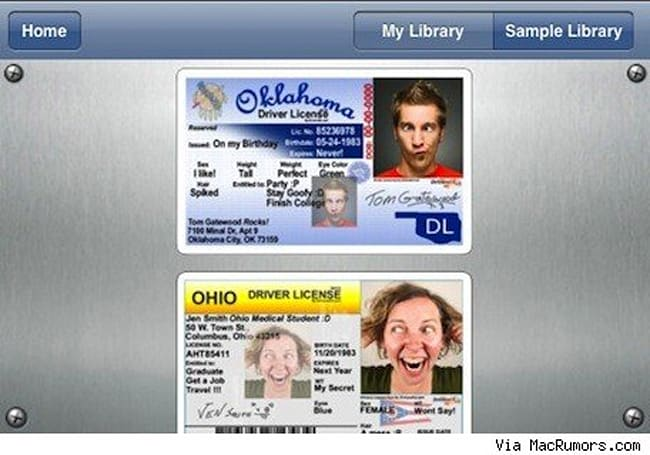Apple pulls app for creating fake US driver's license