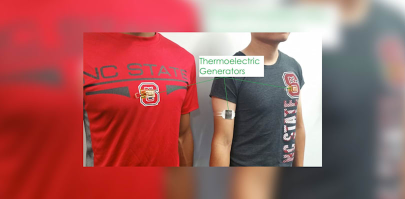 Future medical wearables could be powered by body heat