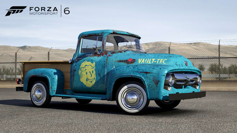 You can drive cars from 'Fallout 4' in 'Forza Motorsport 6'