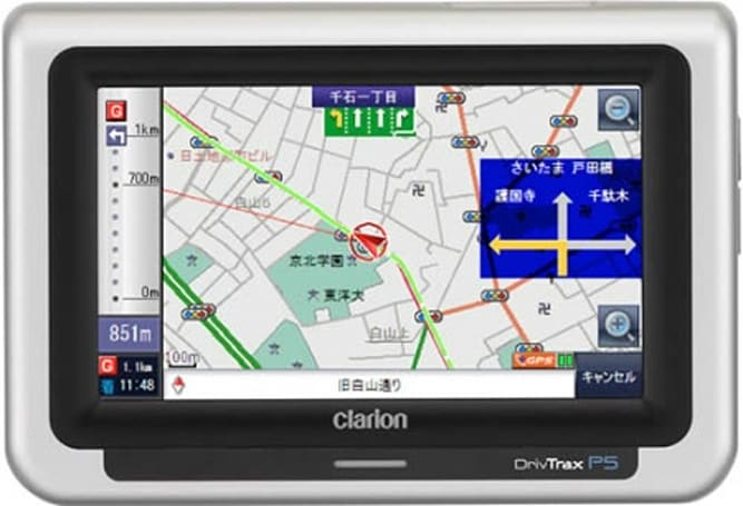 Clarion's DrivTrax P5 nav unit for Japan