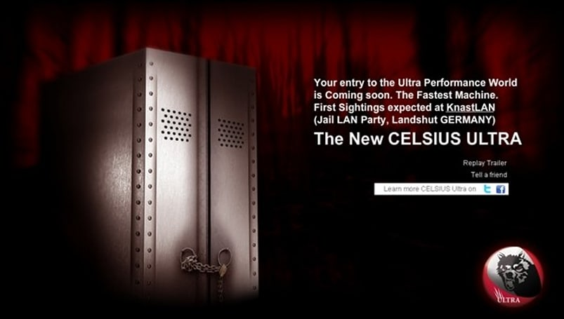 Fujitsu's new gaming rig gets a teaser site, and a name: CELSIUS ULTRA