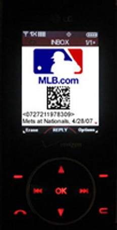 "Washington Nationals intro ""Mobile Tickets"""