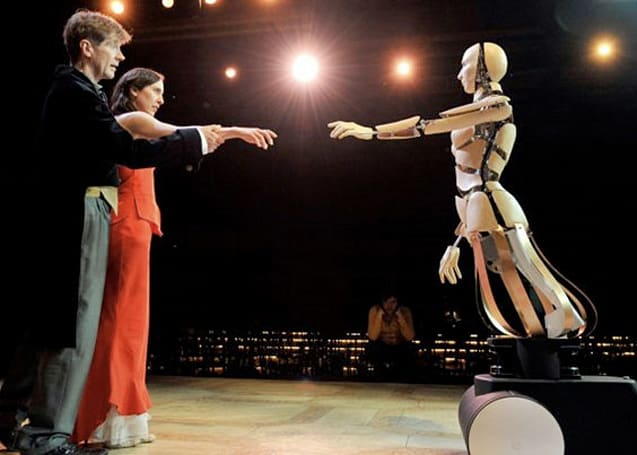 Robots star in Swiss play about a nerd