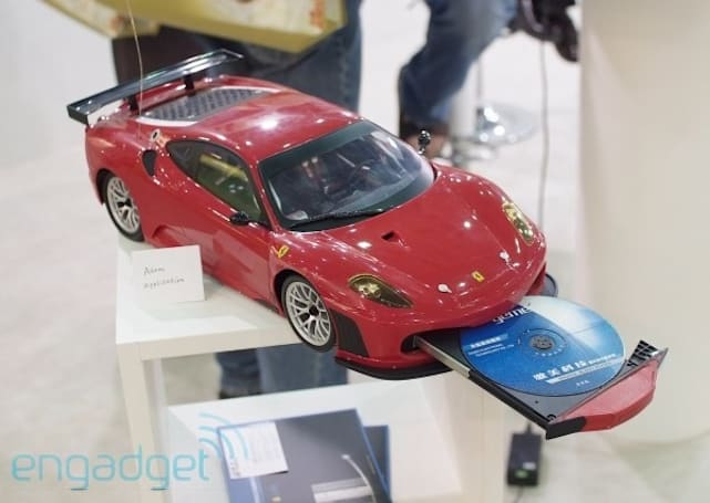 Full-fledged Atom PC finds home in toy Ferrari
