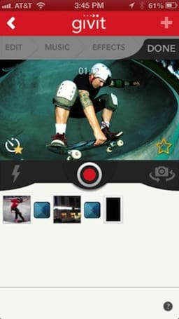 Givit for iPhone edits video shot with Google Glass