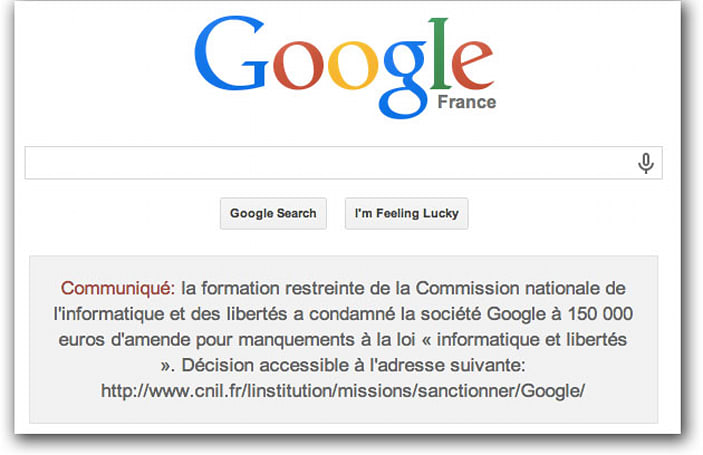 Google refuses to pay French privacy fine, forced to post admission of guilt (update)