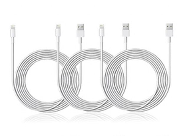 83% Off - 3-Pack of Lightning Cables