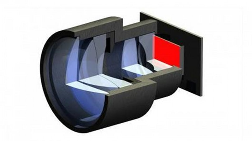 OLED mini projector prototype for mobile phones using a series of lenses developed