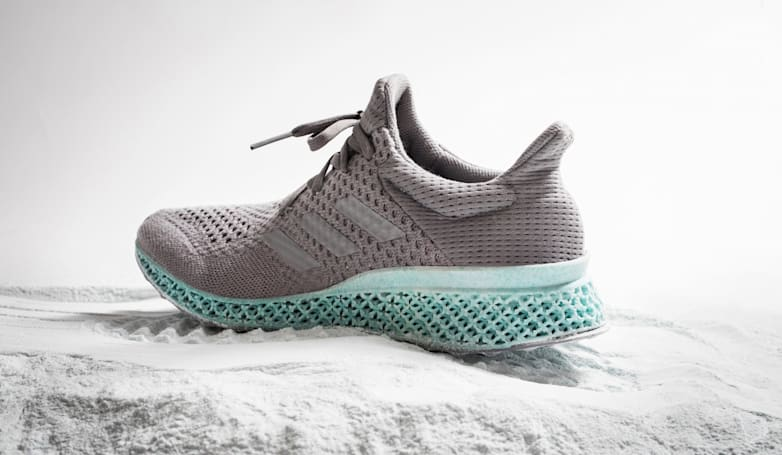 Adidas uses plastic ocean waste to create a 3D-printed shoe