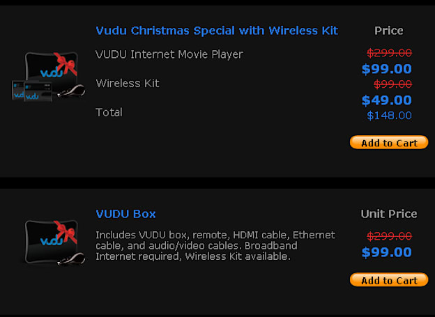 VUDU lowers barrier to entry once more to $99 even