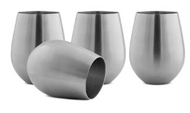 Unbreakable Stainless Steal Wine Glasses