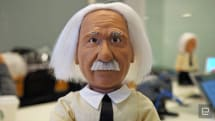 Come for this Einstein robot's facial expressions, stay for his smarts