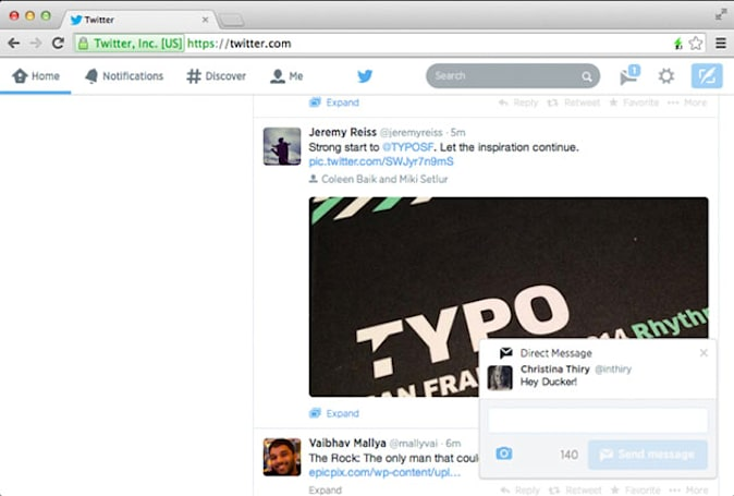 Twitter introduces pop-up notifications on the web