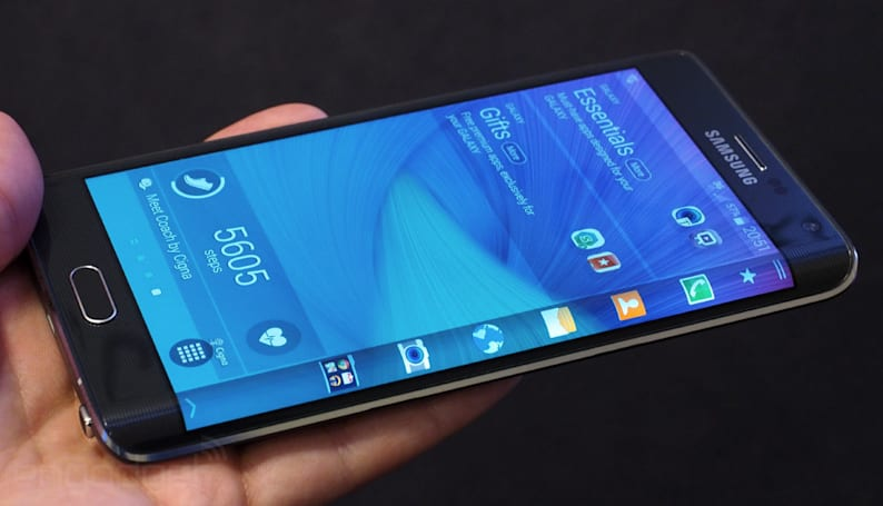The Galaxy Note Edge: Samsung's first smartphone with a bent display