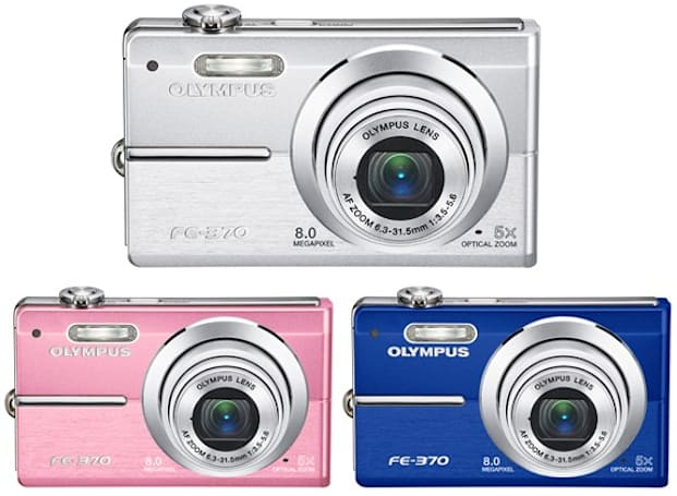 Olympus trots out 8-megapixel FE-360 and FE-370 digital cameras