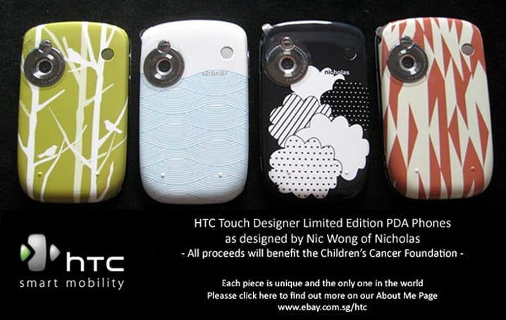 HTC teams with designer to craft wild Touches for charity