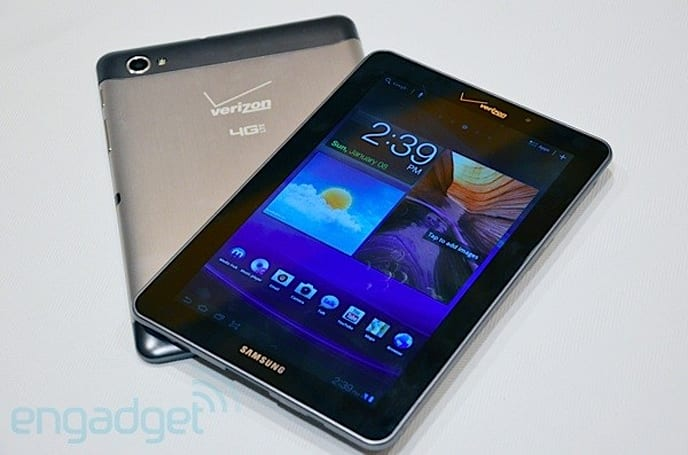 Verizon Galaxy Tab 7.7 with LTE hands-on at CES 2012 (video)