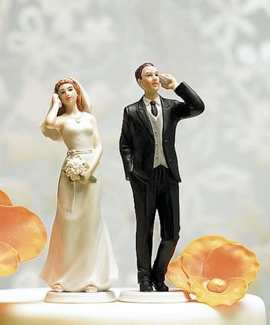 Wedding cake toppers reflect our high-tech, loveless reality
