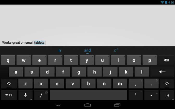 Google Keyboard 1.1 update adds long-press number row to tablets