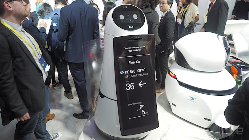 LG made a couple of robots just for airports