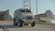NASA tests battle trucks as astronaut escape vehicles