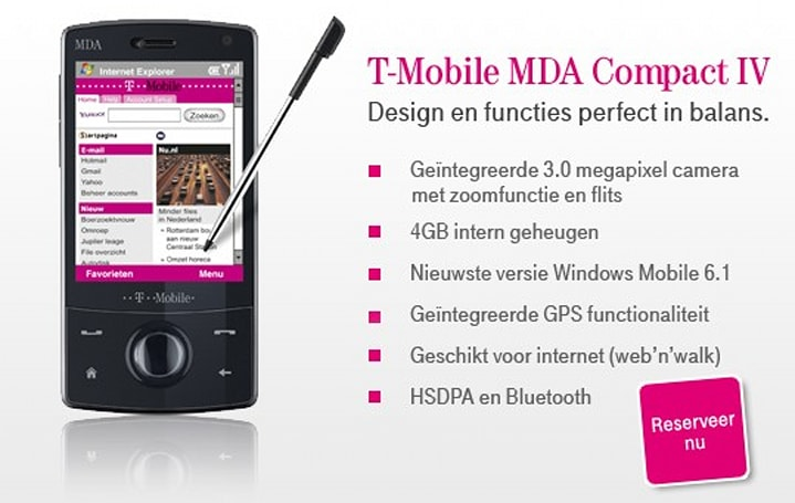 T-Mobile Netherlands taking names for MDA Compact IV