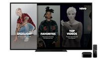 Vevo's Apple TV and Android apps offer a more customized experience