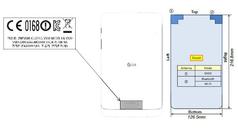 LG's 'V500' 9.8-inch tablet makes its presence known at the FCC