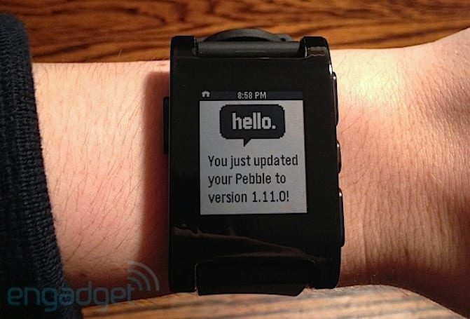 Pebble firmware update 1.11 arrives with UI improvements, Simplicity watchface
