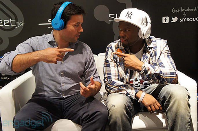 50 Cent talks up two new headphones in his SMS Audio line (video)