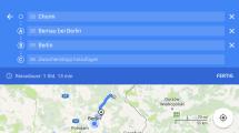 Google Maps für iOS jetzt mit mehreren Wegpunkten