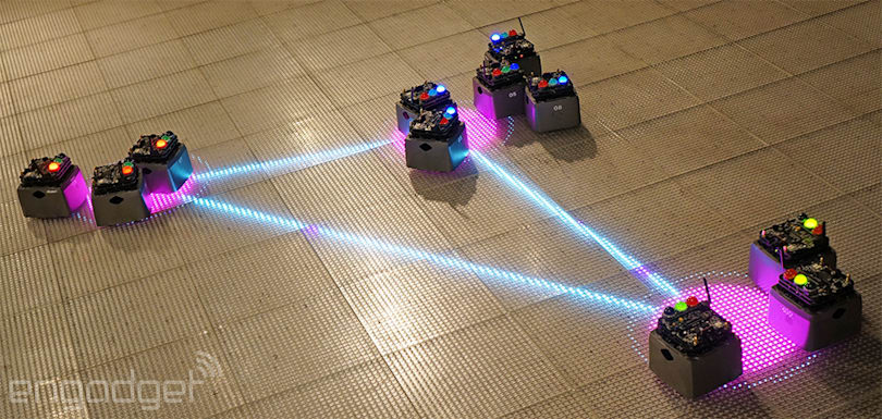 A Robot Swarm descends on NYC's Museum of Math