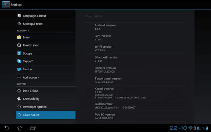 Android Jelly Bean update now rolling out to ASUS Transformer Pad Infinity TF700