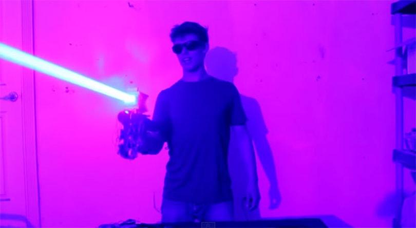 Homebuilt laser shotgun is every bit as dangerous as it sounds