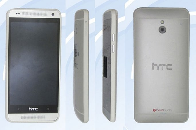 HTC One Mini shows up as 601e in Chinese certification database