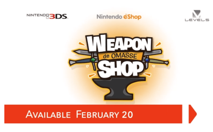 3DS 'Weapon Shop de Omasse' opens on Feb. 20