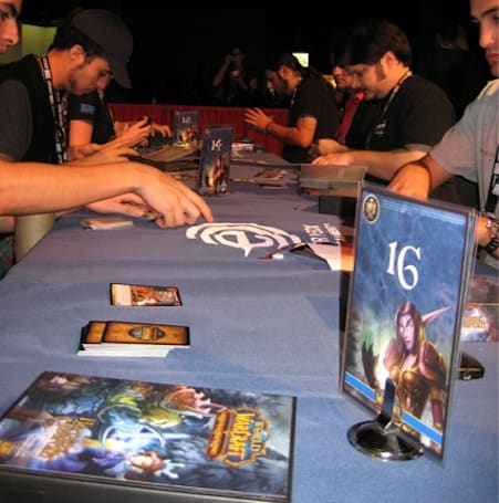 Playing the WoW TCG at BlizzCon