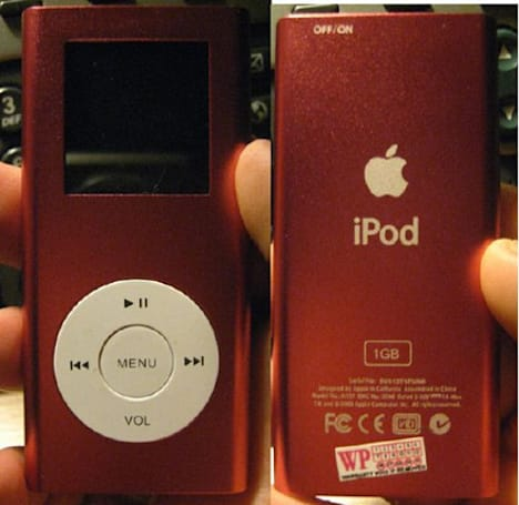 Keepin' it real fake, part XXXVIII: If it looks like an iPod, sounds like an iPod, and is named iPod...