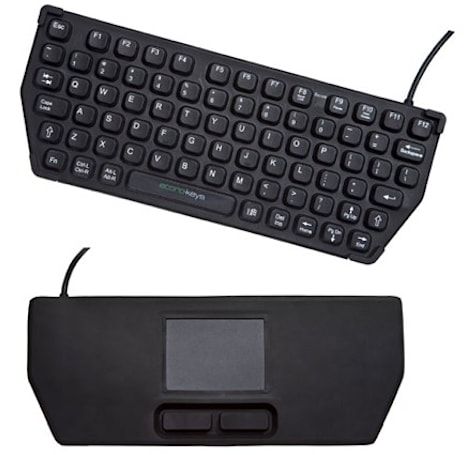 Econo-Keys EK-76-TP portable keyboard packs a touchpad on the flipside