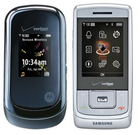Verizon gets official with Motorola VU204, Rapture, and Samsung Sway