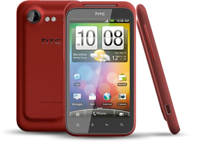 HTC Incredible S render surfaces in red