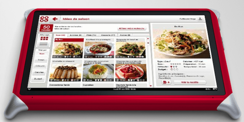 Qooq recipe and cooking tablet launched for French speakers only