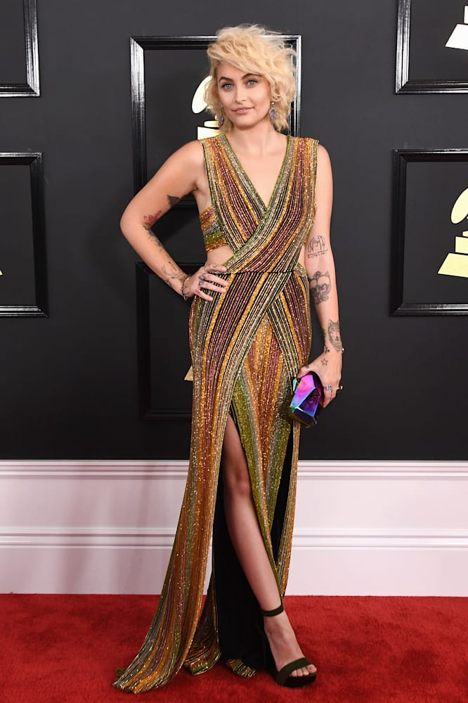 Image result for Paris Jackson red carpet Grammy Awards 2017