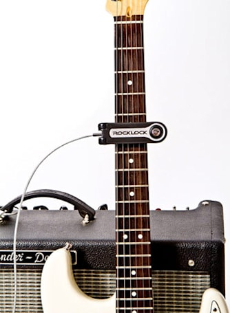 Rock Lock protects your guitar from theft, runs at least one roadie out of a job