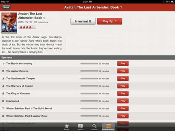 Netflix for iPad updated with a new custom UI but loses features like DVD queueing
