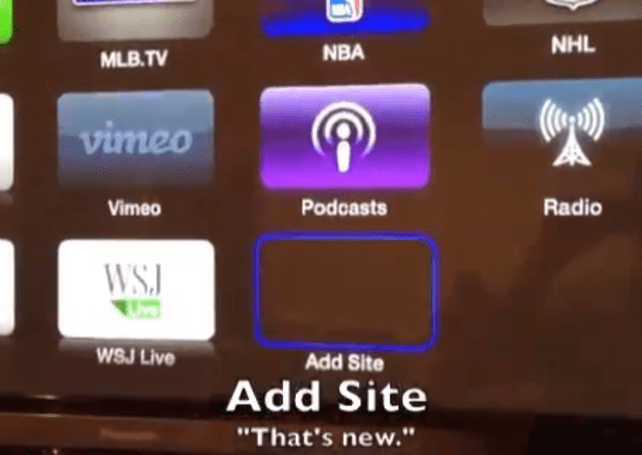 Apple TV hacker discovers how to add custom sites on older firmware